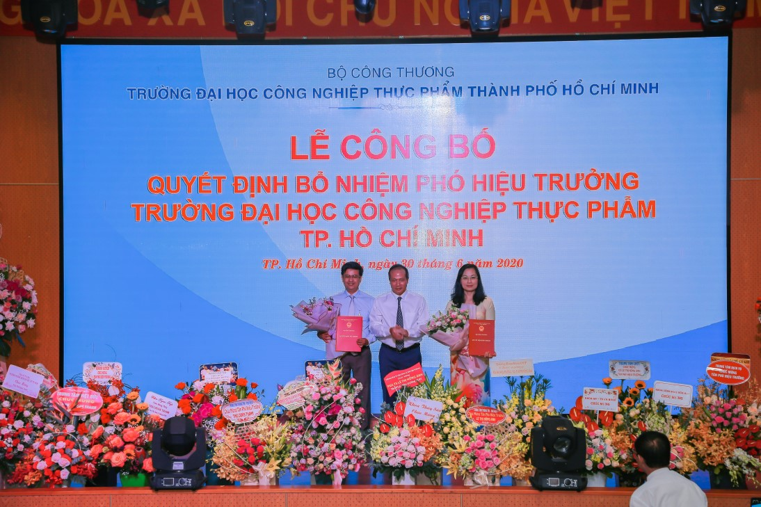 The Announcement Ceremony of Appointment Decisions on the Position of the Vice Presidents of Ho Chi Minh City University of Food Industry